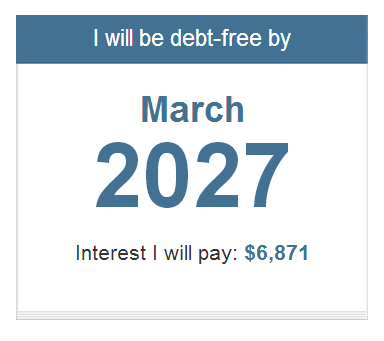 Simple Free Debt Calculator  by Beat Debt Info